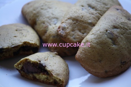 Chocolate Chip Cookies Ripieni di Nutella