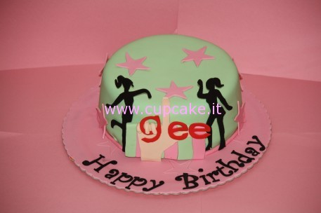 torta decorata Glee