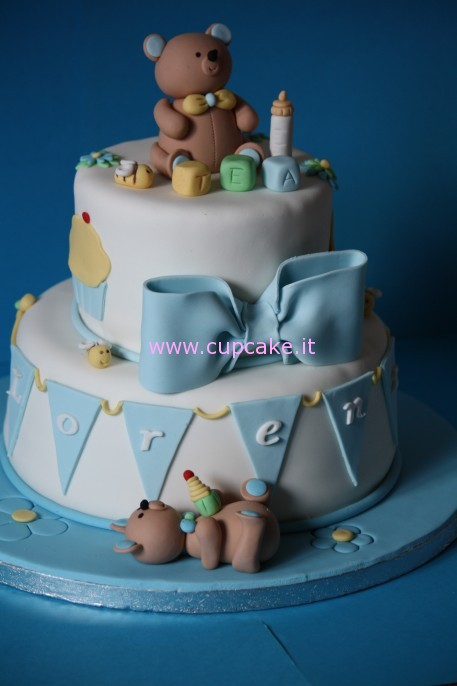 spesso Torta Decorata Per Battesimo | Cupcake punto it : Ricette e Guide  TP73