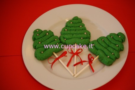 christmas tree cookie on a stick