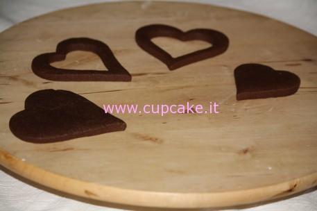 biscotto a forma di scatolina san valentino