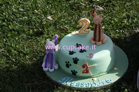 Torta Decorata con Gatti