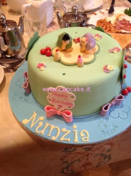 torta decorata con tartarughe