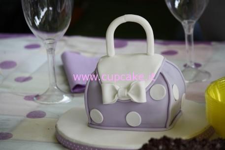 torta mini borsetta scolpita