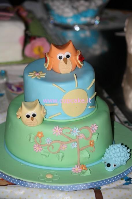 torta con gufo