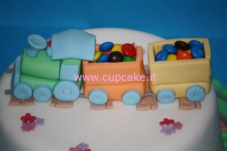 torta decorata con treno