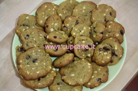 biscotti mirtilli e cioccolato bianco