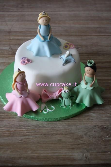 torta decorata principesse